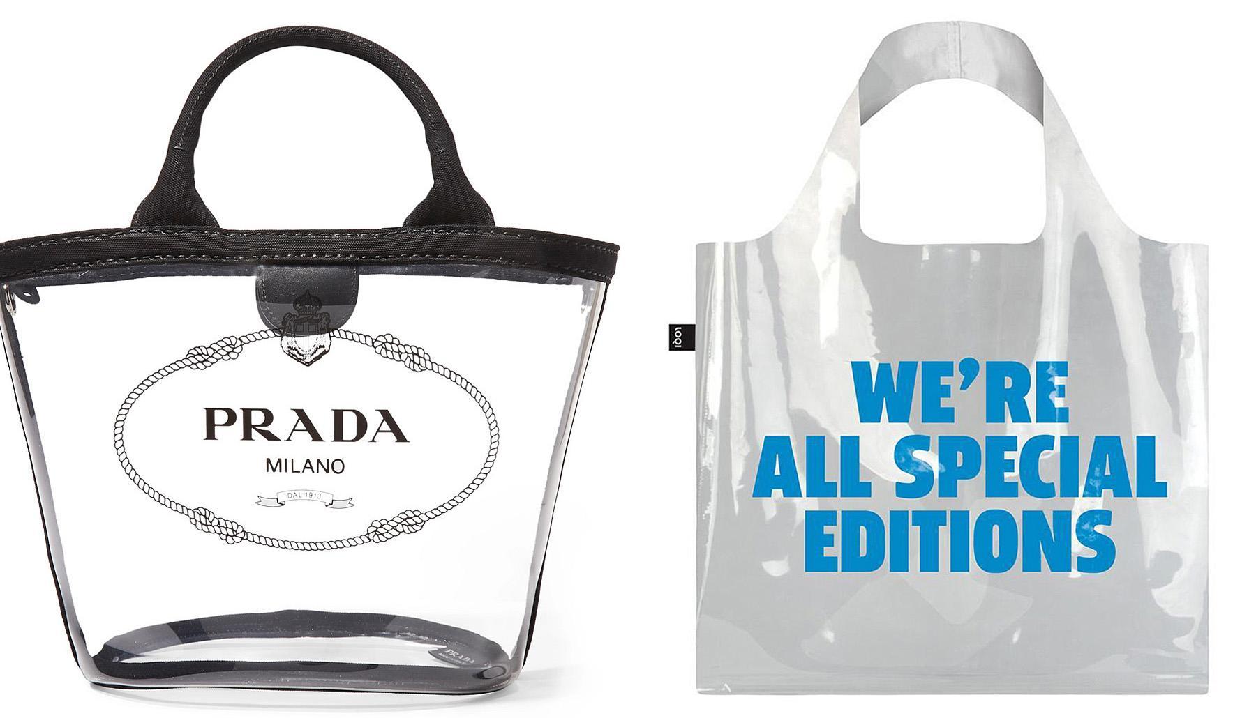 Fashionable transparent bags