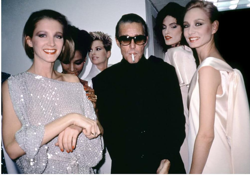Halston with models from Ultrasuede